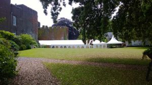Marquees at Fonmon Castle
